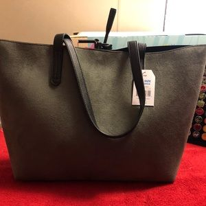 Handbags - Large Green Suede Tote